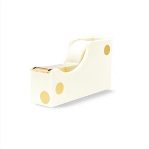 🆕🌸 Kate Spade ♠️ Gold Dot Tape Dispenser